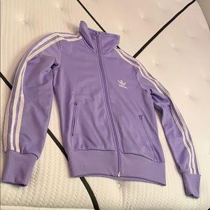 Lilac Vintage Adidas Zip Jacket Size S/P